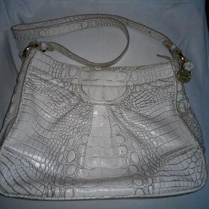 Brahmin White Shoulder Bag